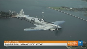 Iconic WWII plane goes for round-the-world record flight