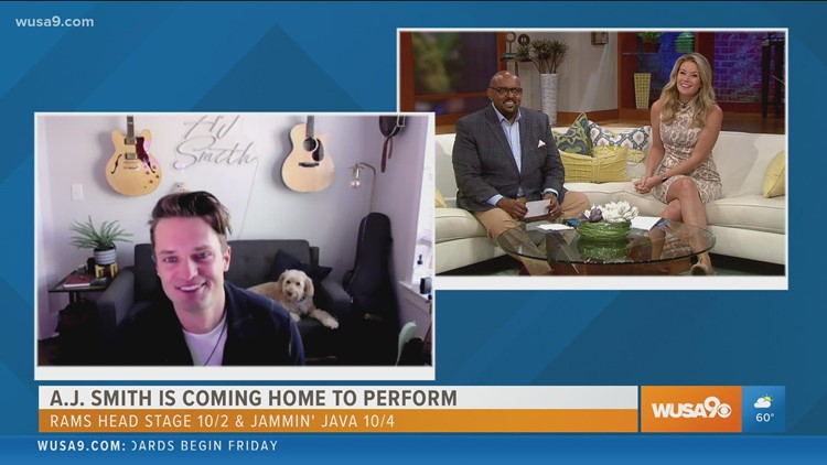 Singer/Songwriter A.J. Smith is excited to return home to perform with his band