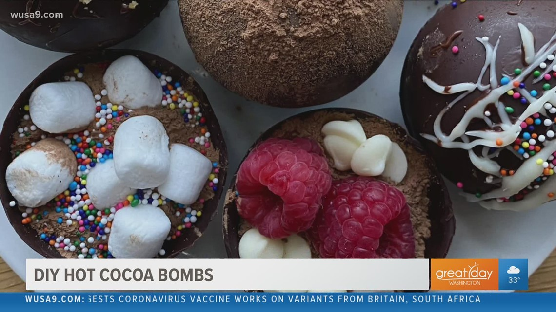 Snuggle up on a cold day with these DIY hot cocoa bombs