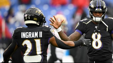 Ravens running back Mark Ingram will play against Titans after being questionable for game