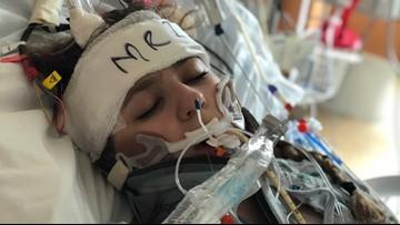 Critically injured teenager shows hopeful signs after horrific car crash
