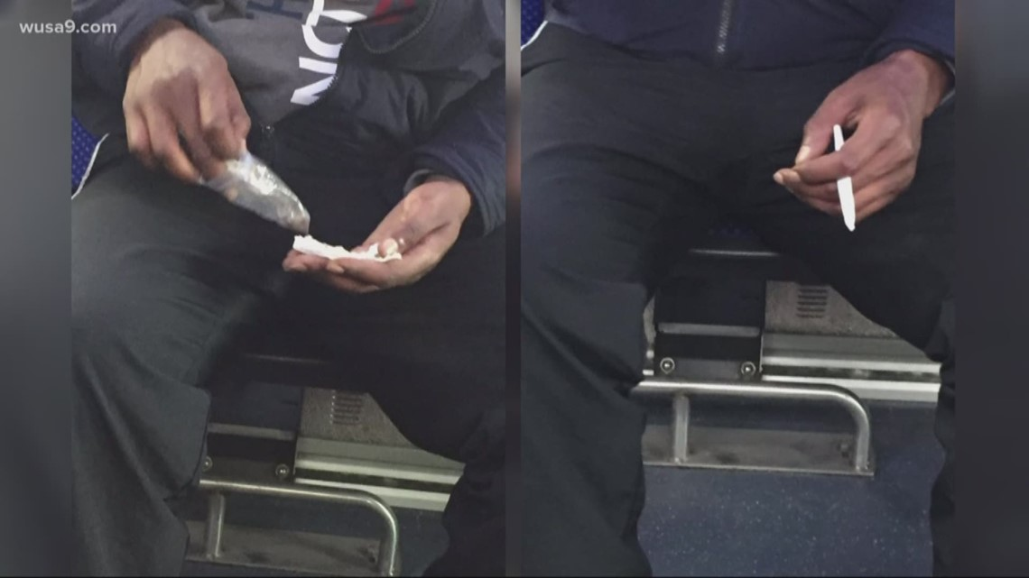 Most DC Thing: Man rolling joint on Metro