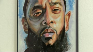 Maryland art exhibit honors life and legacy of rapper Nipsey Hussle