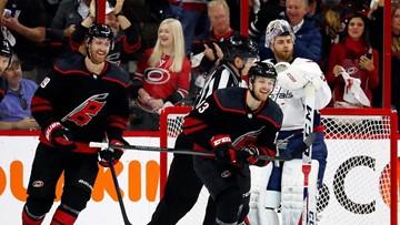 Teravainen, Hurricanes beat Capitals 2-1, even series