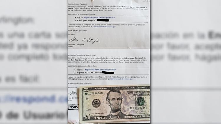 VERIFY: Is this $5-filled survey from the U.S. Census Bureau legit?