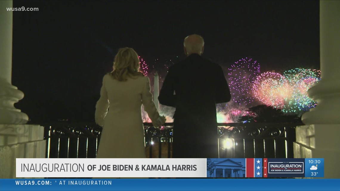 Inauguration Day ends with stunning fireworks show over the National Mall