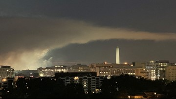 You might've noticed a plume of smoke during the fireworks above the National Mall. Here's why