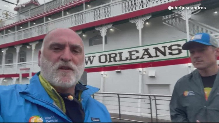 Chef José Andrés, World Central Kitchen respond to New Orleans following Ida