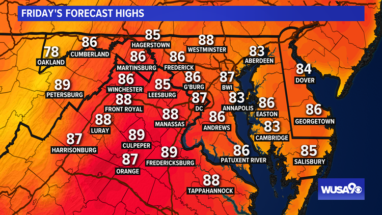 Warmer Friday, hotter and humid Father's Day weekend