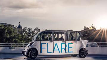 Free rides in DC offered by FLARE electric shuttle service