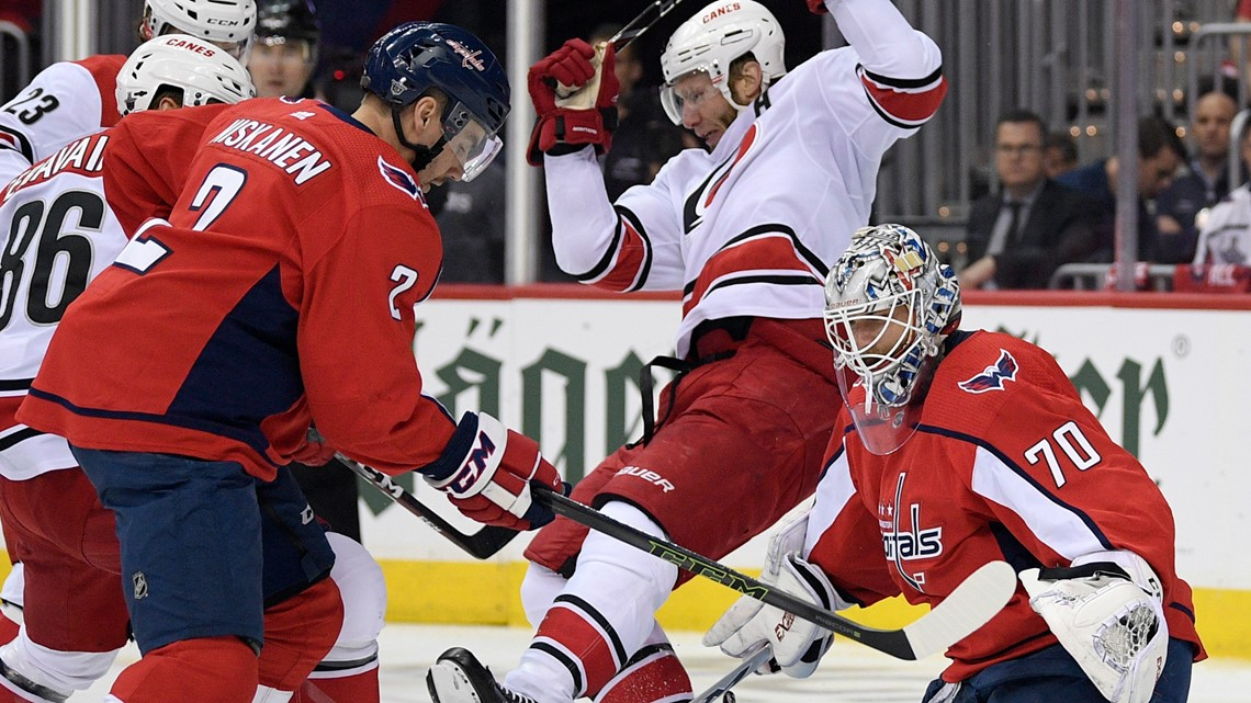 Caps fall to Hurricanes in double overtime in season-ending Game 7