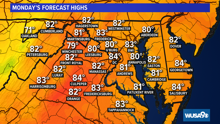 Sunny Monday with low humidity