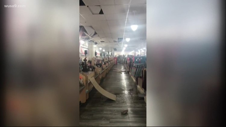 Confirmed Tornado Causes Damage At Tj Maxx In Mount Airy Maryland