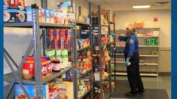 Food pantry set up by Dulles TSA workers to help  impacted airport workers