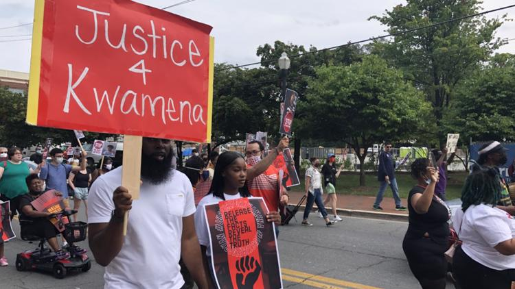 'I'm going to continue to fight' | Supporters of two men shot, killed by police protest in Gaithersburg