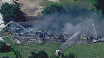 Glenwood barn fire blows billowing smoke Monday afternoon