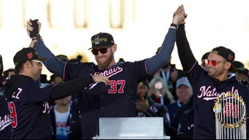 World Series MVP Stephen Strasburg discusses $245M contract with Washington Nationals