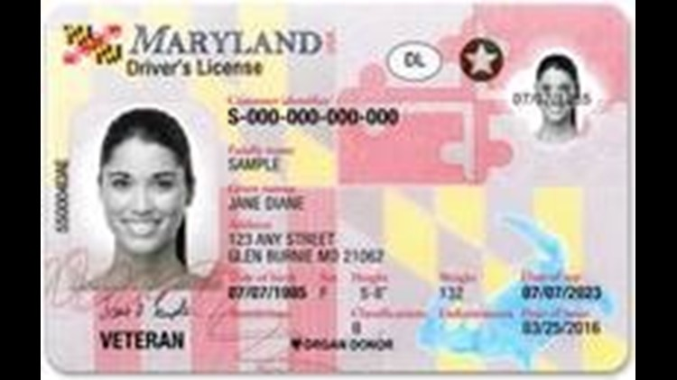Maryland Real ID driver's license