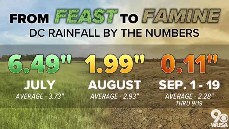 September rainfall update as of 9-19-19