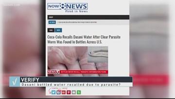 VERIFY: Dasani bottled water recalled due to parasite