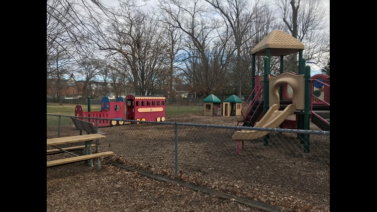 Toddler playground at Griffith Park at City Hall in Gaithersburg