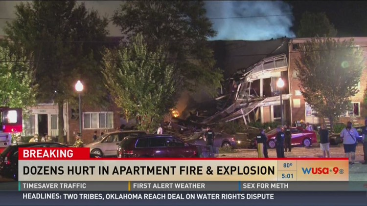Dozens hurt in apartment fire and explosion
