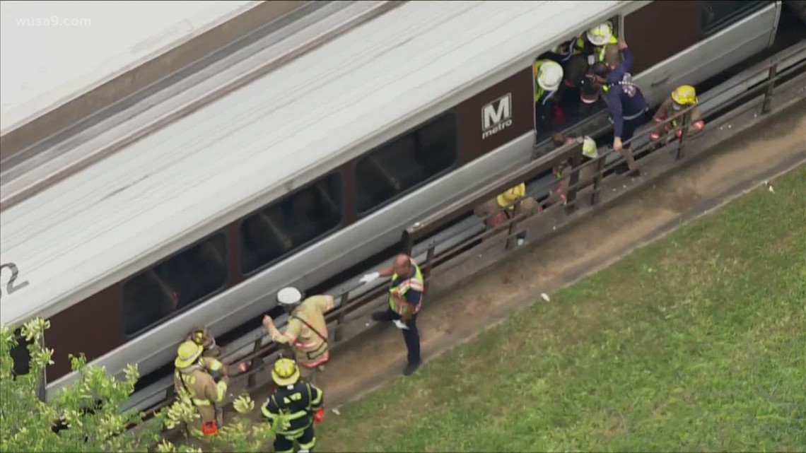 Person hit, pinned under metro train in Maryland