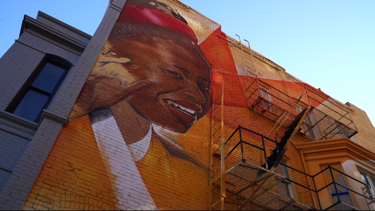 Amanda Gorman mural now a part of DC landscape; artwork honors her Inauguration Day poem