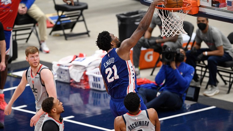 76ers rout Wizards to take 3-0 series lead