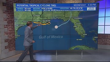 Barry will form in the Gulf Of Mexico, Hurricane Watches issued for Louisiana Coast