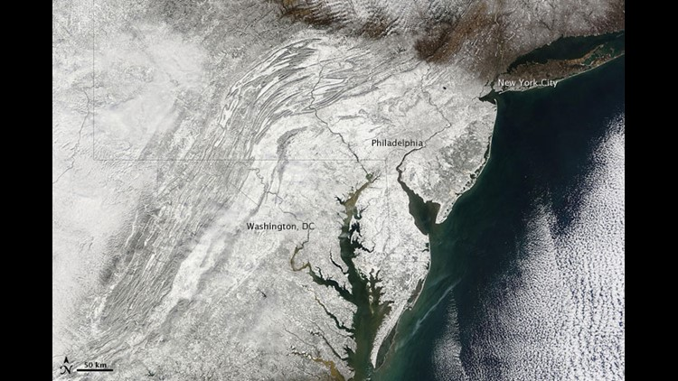 Snowmaggedon Aftermath: Snow from space