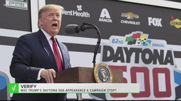 VERIFY: Was President Trump's Daytona 500 appearance a campaign stop?