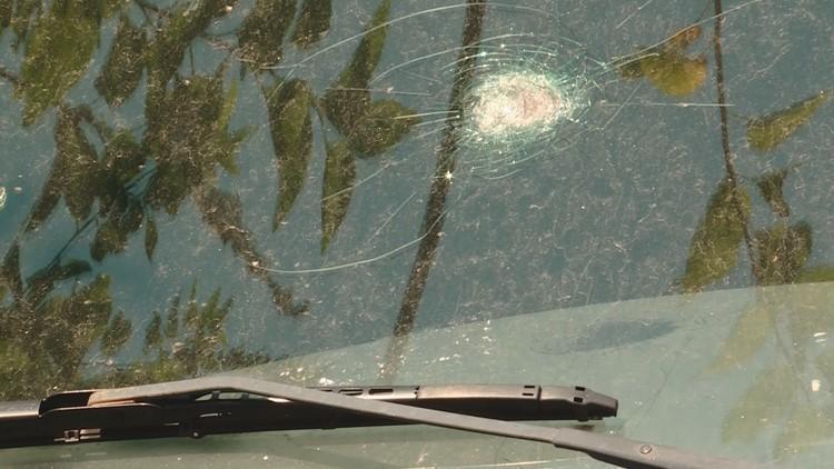 Broken windshield in Northeast