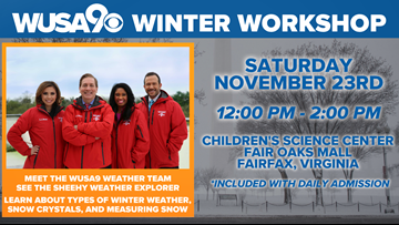 The WUSA9 Weather Team is hosting a Winter Workshop
