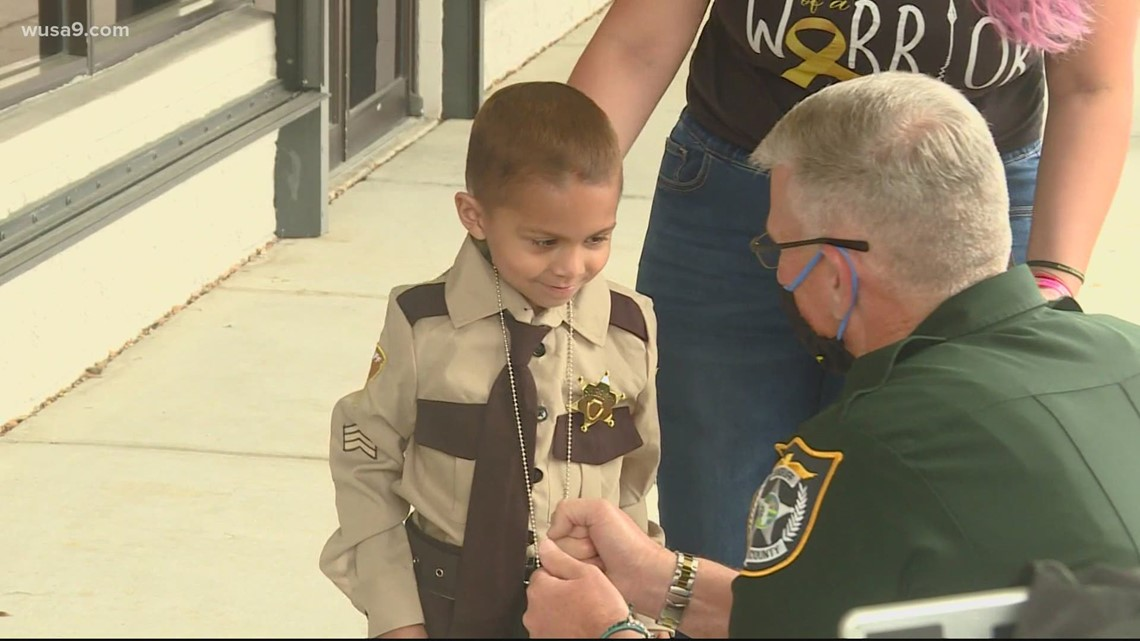 Boy with cancer sworn in as sheriff's deputy | Get Uplifted