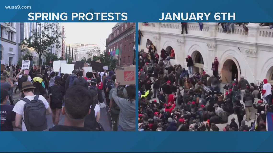 Tear gas was prohibited at Capitol riot, but approved at BLM protests last year