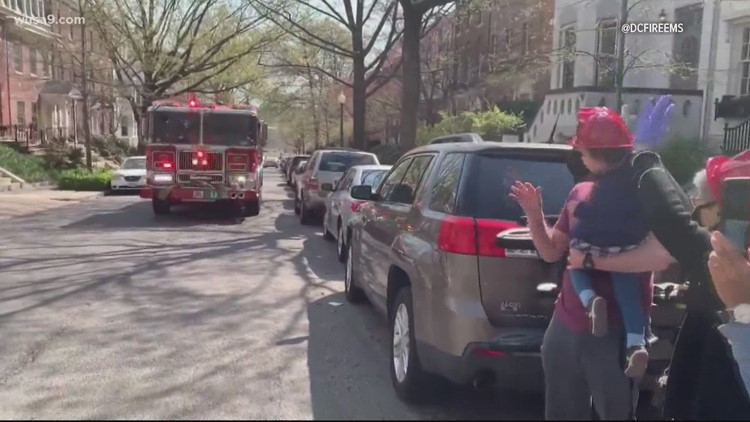 DC firefighters help little girl celebrate her birthday | Get Uplifted
