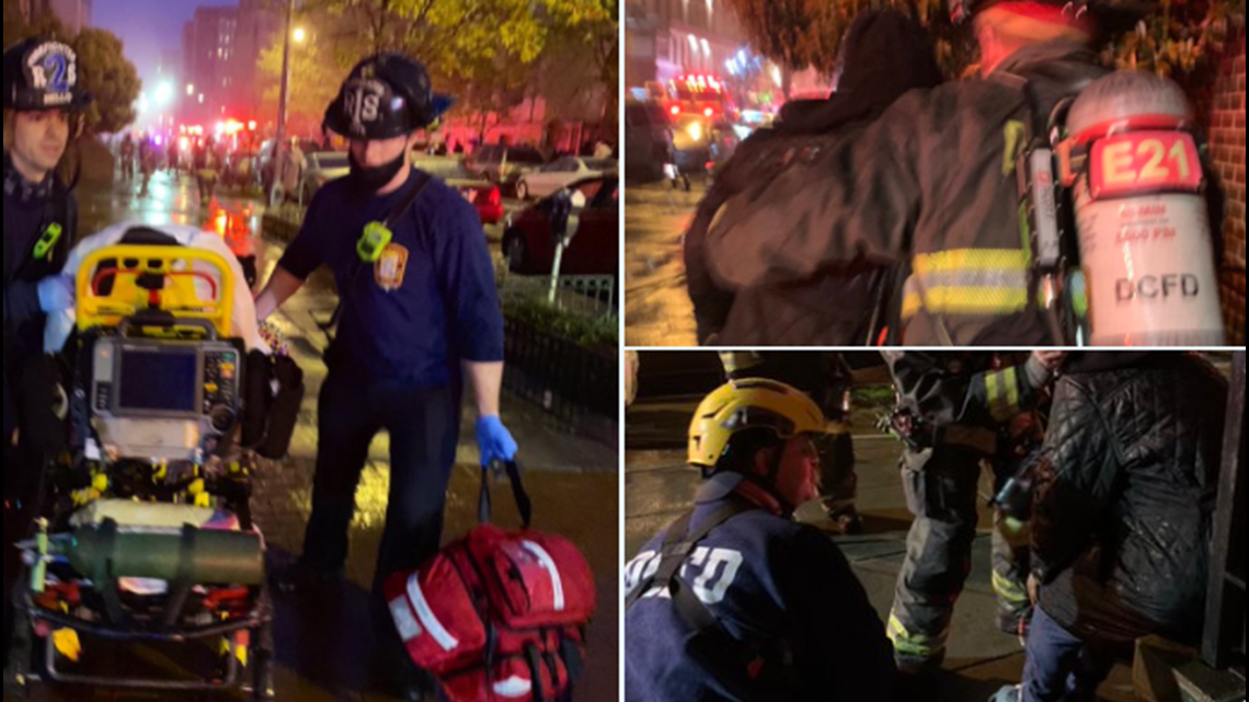 Multiple people saved by firefighters from DC apartment building after being trapped by blaze
