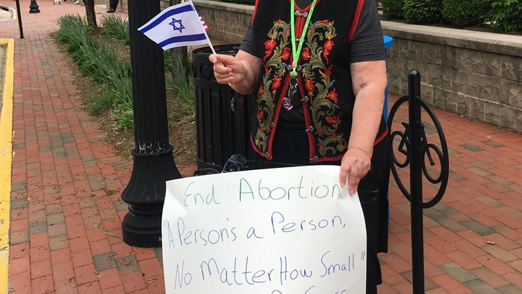 Pro-Life and Pro-Israel protester at Herndon Town Hall