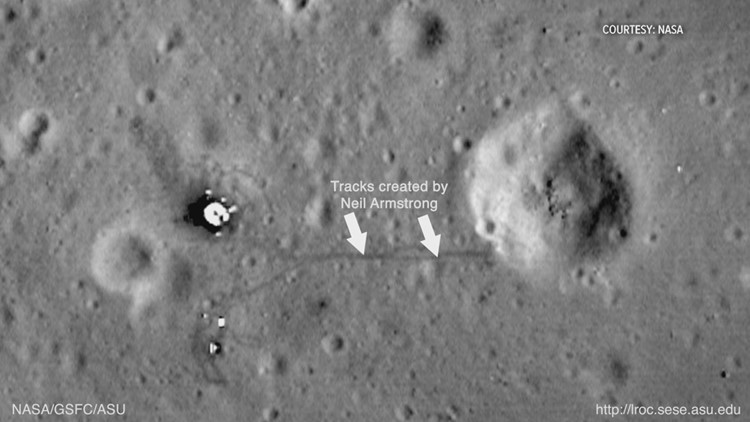 Neil Armstrong Footprints and Tracks