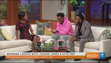 Morning laughs with Comedians Juhahn Jones and Ayye Pap