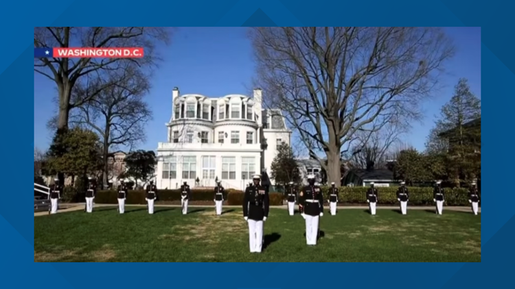 Marines stationed in DC perform during inauguration