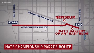 The best ways to get to the Nats victory parade without driving