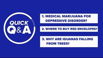 Prescribe medical marijuana for depressive disorder? Where to get red envelopes? Falling frozen iguanas?