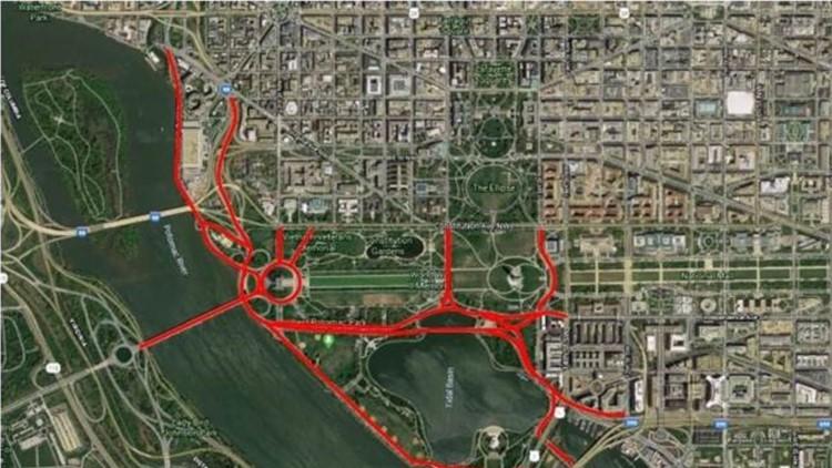 Road closures in DC