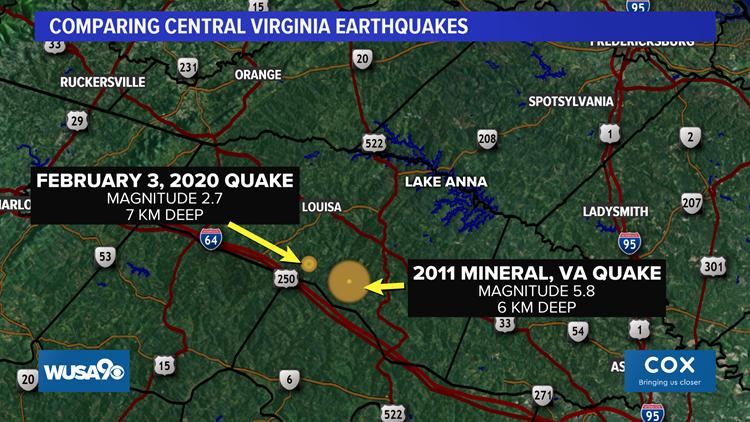 Central Virginia Earthquakes