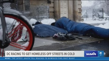 DC officials race to find the homeless during Hypothermia Alert