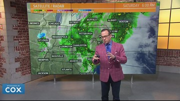Another winter weather threat comes Monday