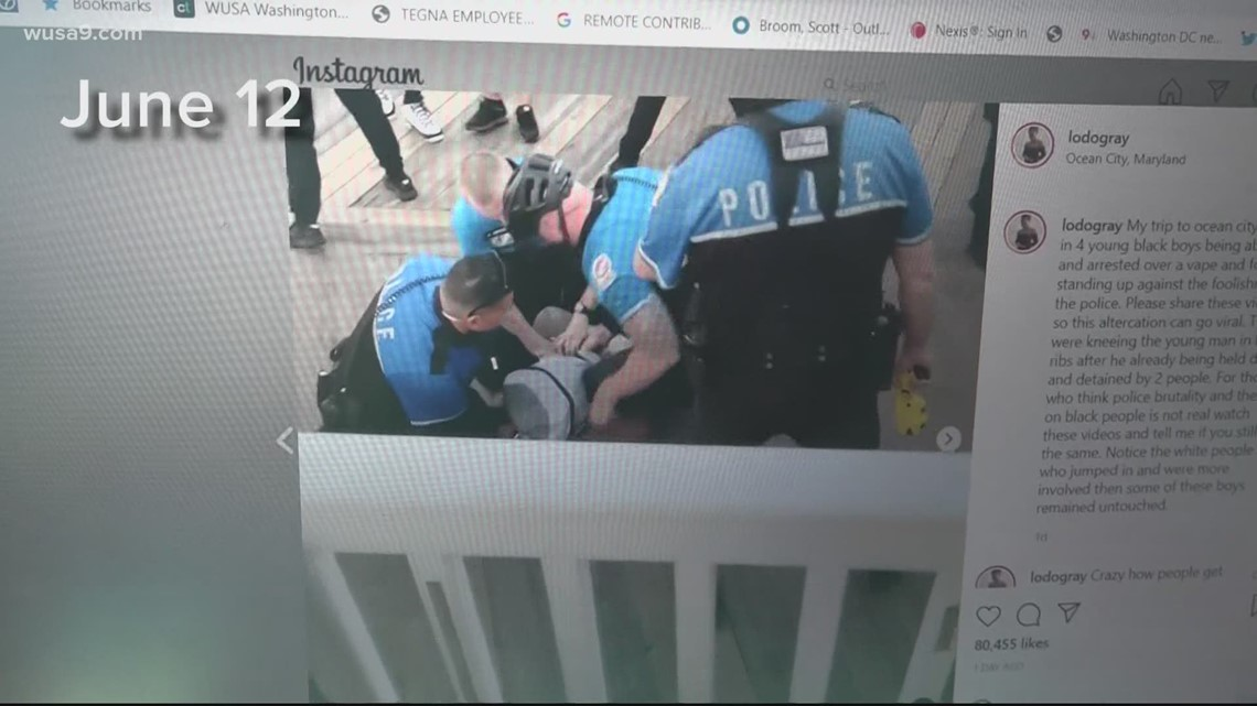 Video shows Ocean City Police forcibly arresting men for vaping on Boardwalk