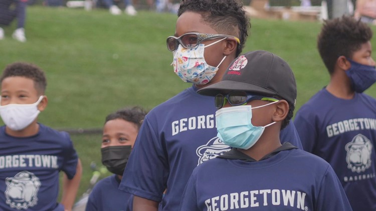 After overcoming a near COVID-19 shutdown, Georgetown University baseball is back, and building ties in the community